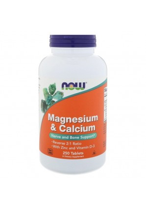 NOW Magnesium & Calcium with Zinc and Vitamin D-3 250 табл