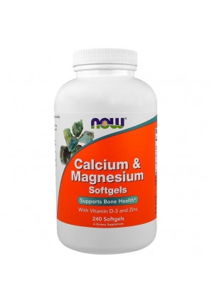 NOW Calcium & Magnesium with Vitamin D-3 and Zinc 240 капс