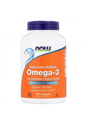 NOW Omega-3 1000 мг 180 капс
