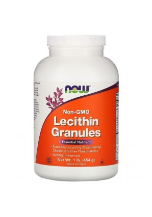 NOW Lecithin Granules Non-GMO 454 гр 1 lb