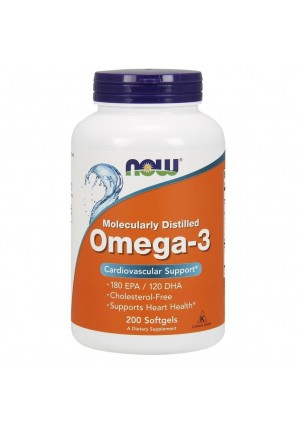 Omega-3 1000 мг 200 капс (NOW)